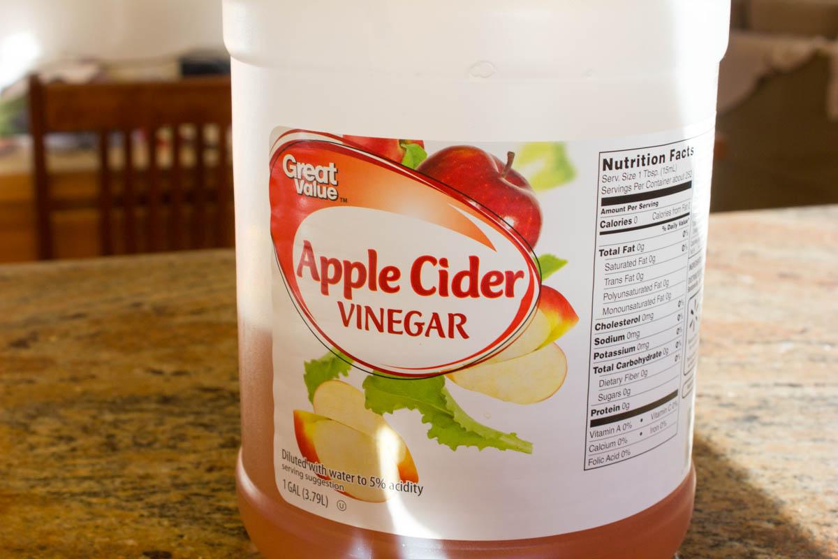 how to clean brass apple cider vinegar